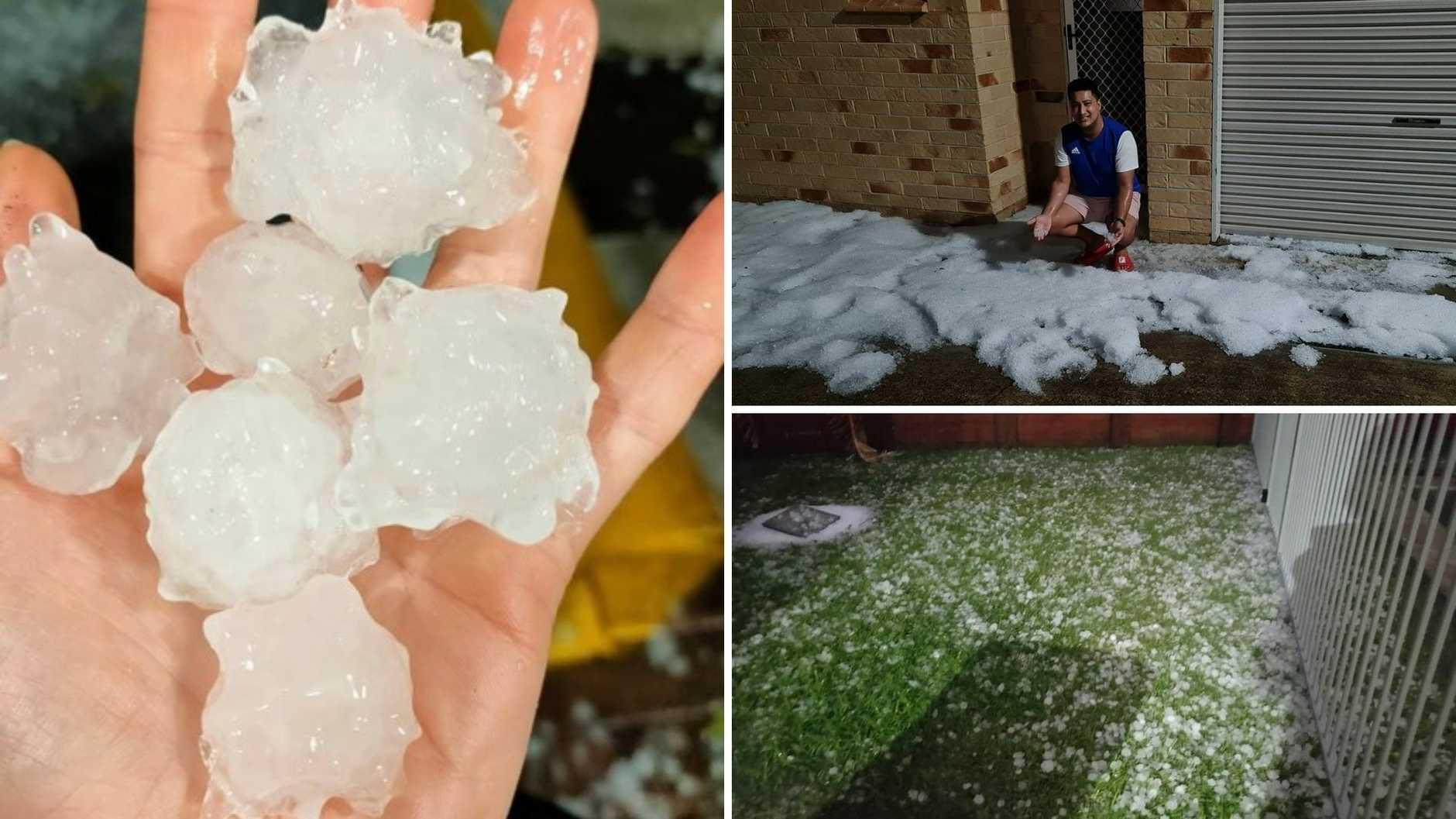 Hail has smashed parts of the Sunshine Coast.