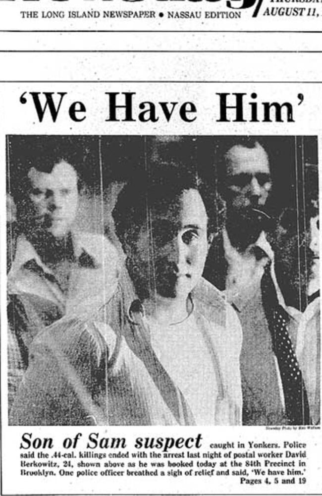 Police captured Berkowitz in August 1977.