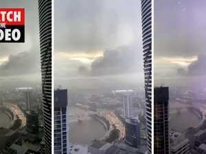 Lightning strike in Brisbane CBD