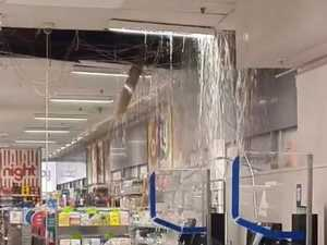 Wild weather carnage rips hole in Plaza store's roof