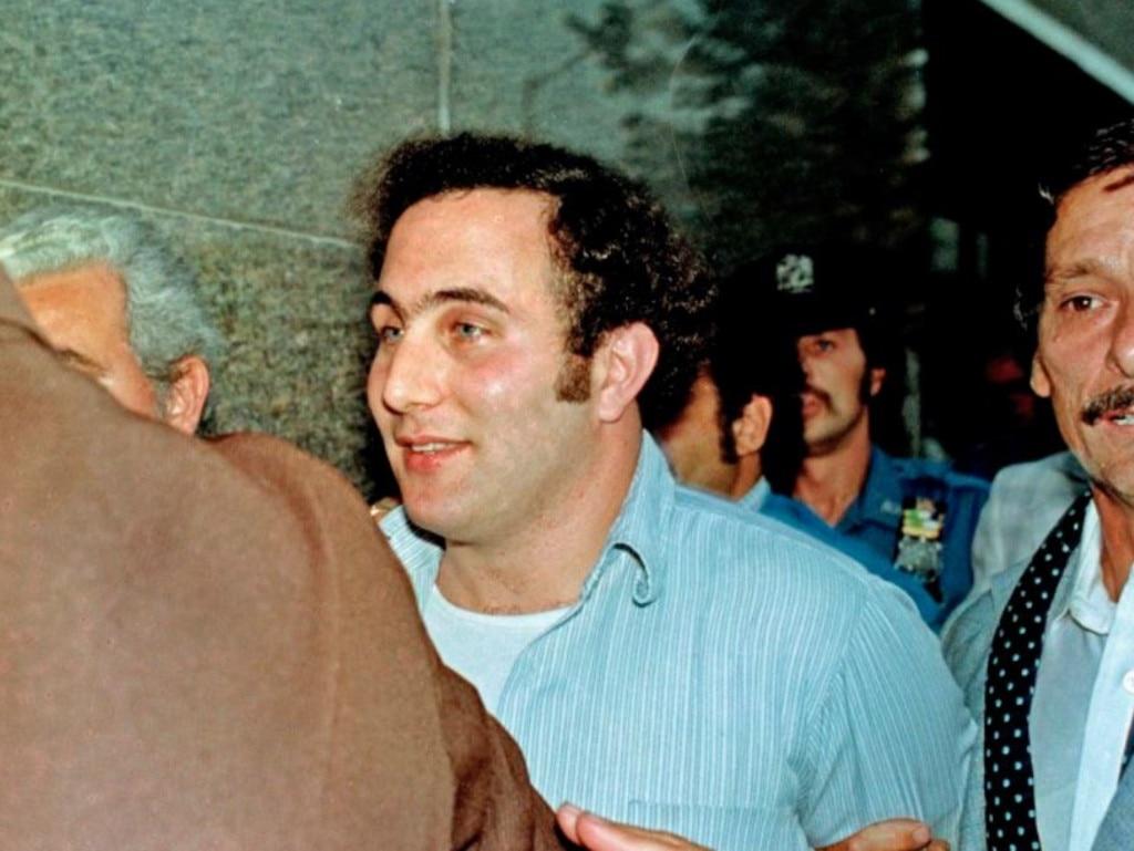 Son of Sam killer David Berkowitz after his arrest. Picture: AP
