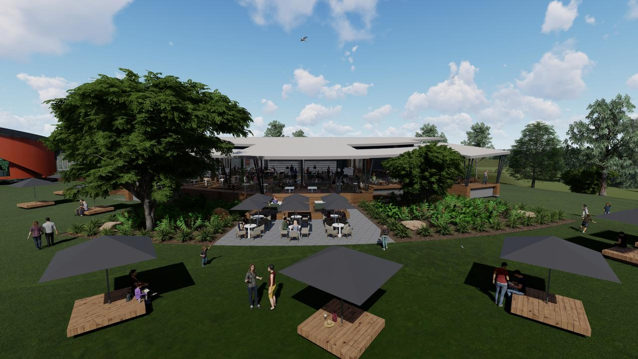 Gordon Gould Ipson director Paul Ipson designed a restaurant perspective for Top Shelf International's agave farm at Eden Lassie, south of Bowen. Picture: Contributed