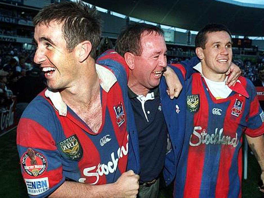 The Johns boys after winning the 1997 Grand Final.