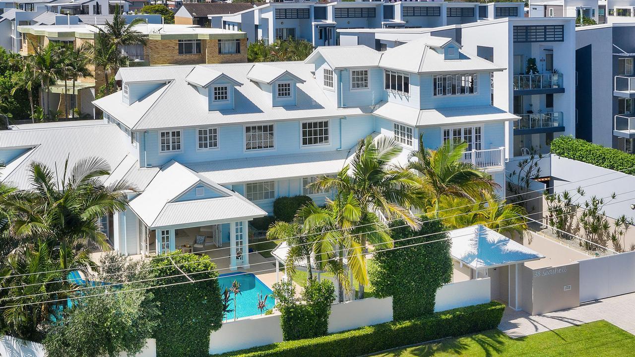 38 Seashell Ave, Mermaid Beach, sold by Matthew and Amanda Clarkson for $5.5 million.
