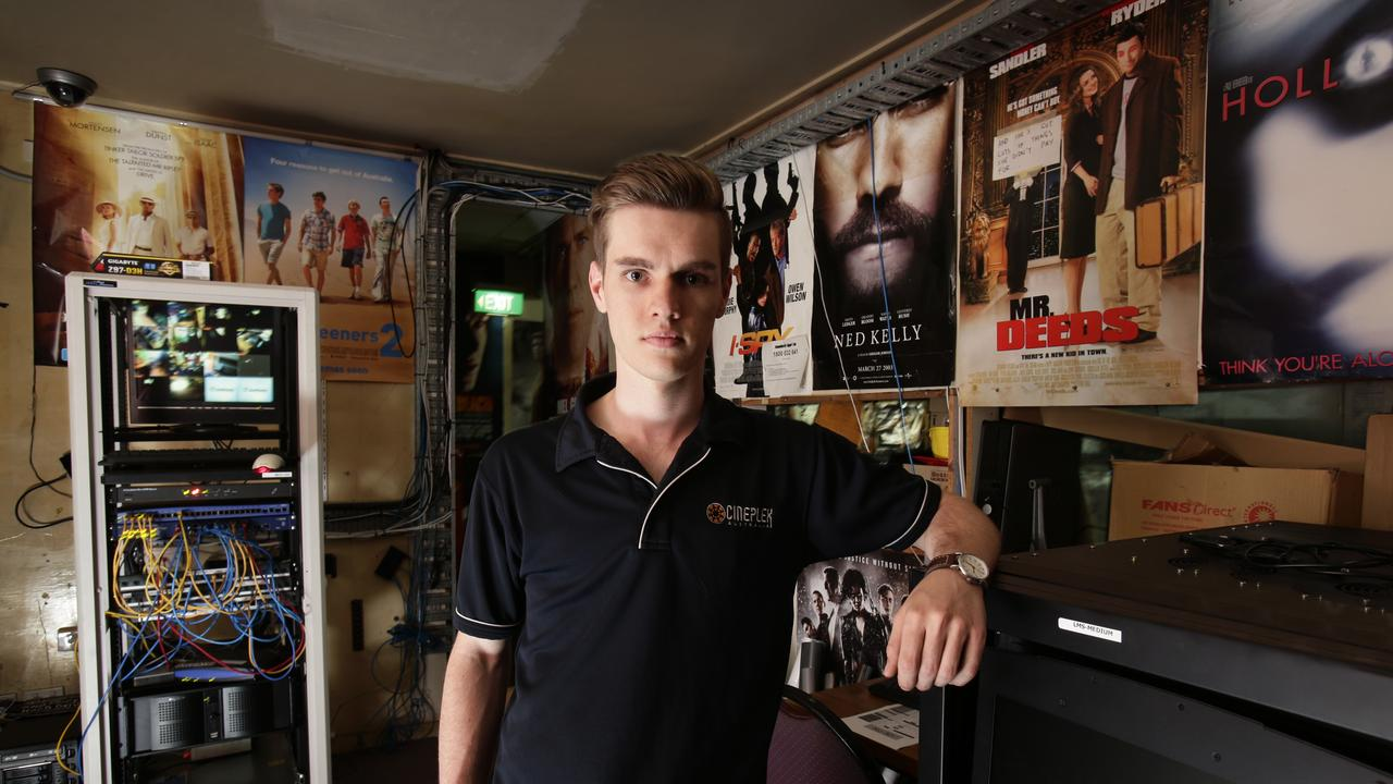 Projectionist Nathan McNamara at Hawthorne Cinema. The suburb has two great cinemas, and much more to offer. Picture: Anthony Weate