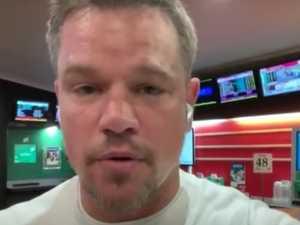 Matt Damon goes live from TAB