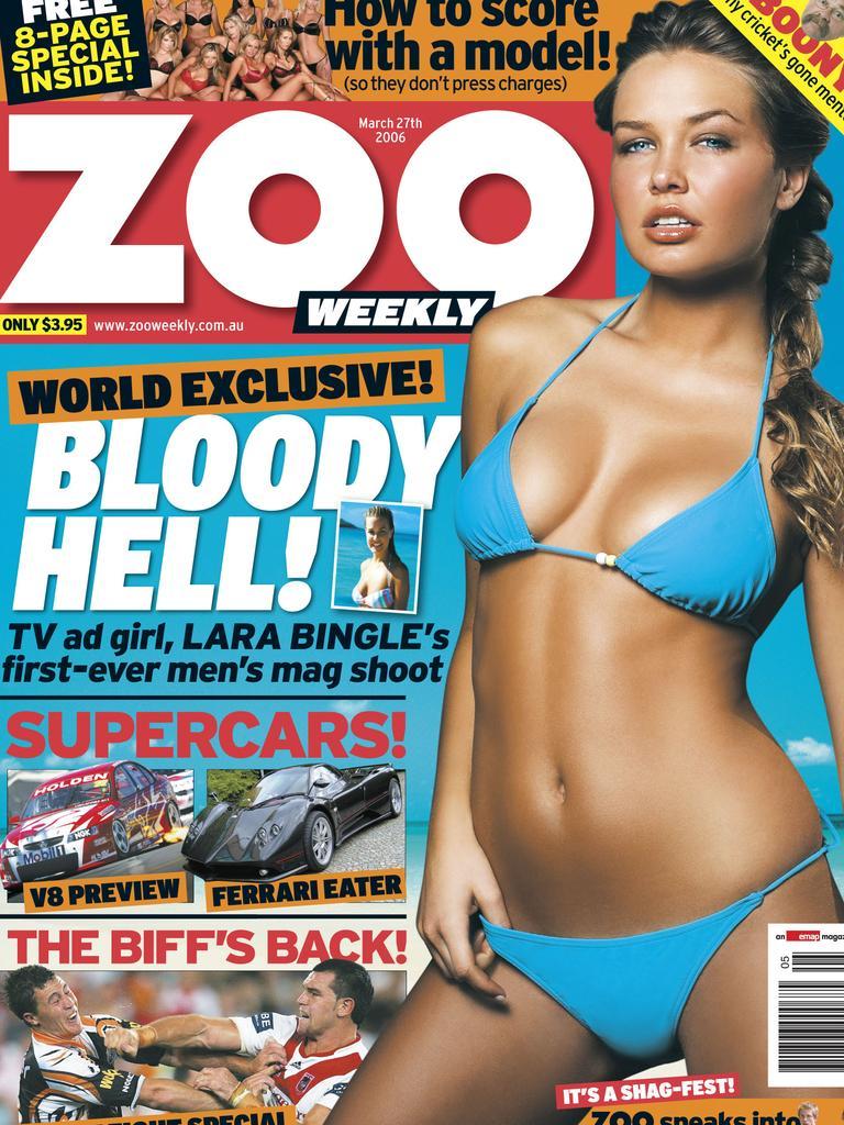 Lara Bingle on cover of Zoo Weekly magazine.