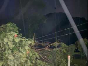 Storm cuts power to more than 8000 homes on Sunshine Coast