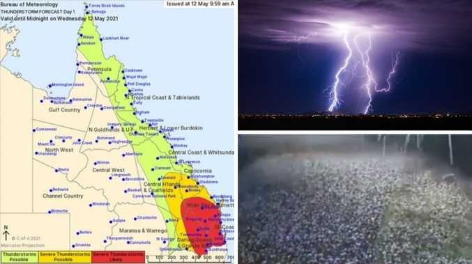 Giant hailstorm alert: Queensland smashed by green monster
