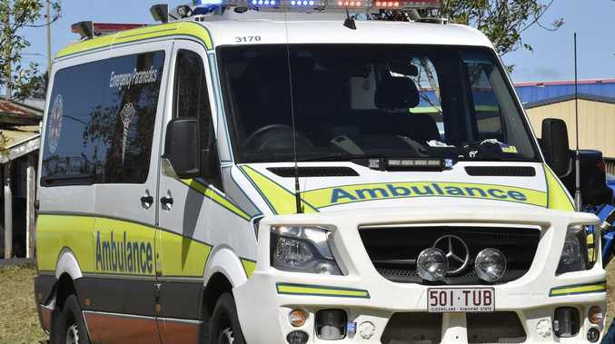 Woman's leg crushed by car as she is getting out of vehicle
