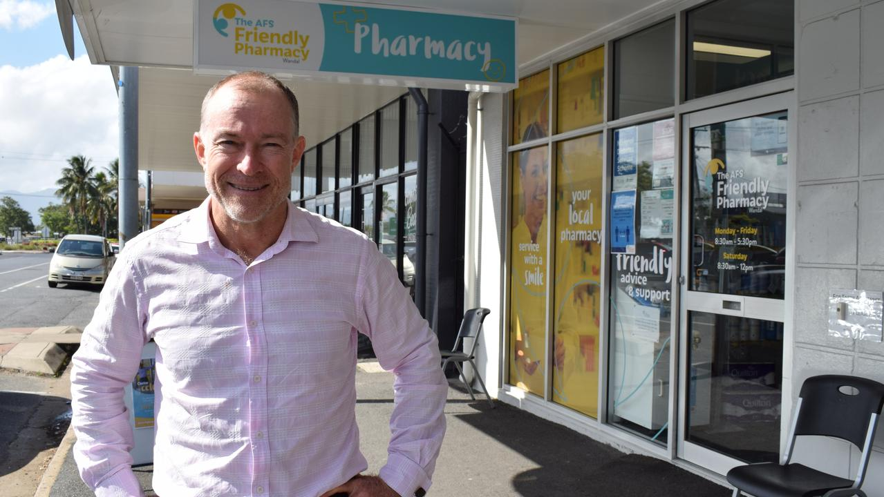 AFS Health Services CEO Mark Boyd outside the AFS Friendly Pharmacy in Wandal. Picture: Aden Stokes