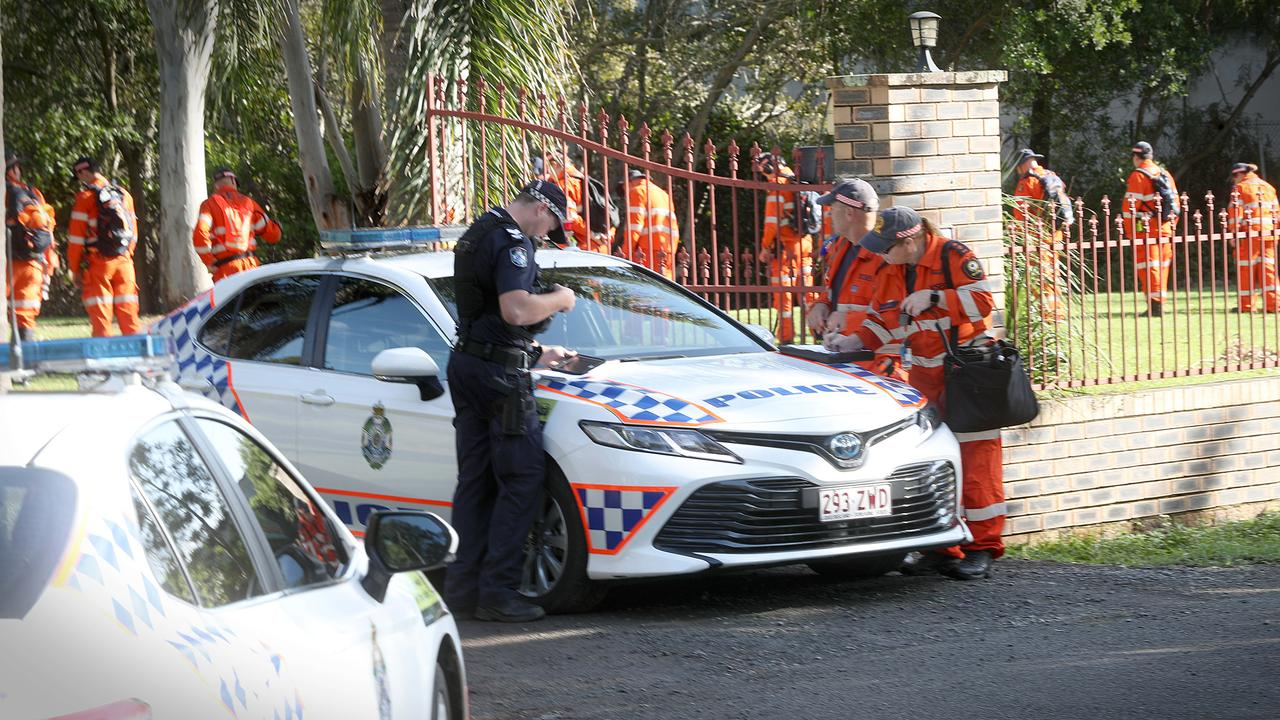 Police and SES crews on scene at a Muller Rd, Taigum. Picture: Jamie Hanson