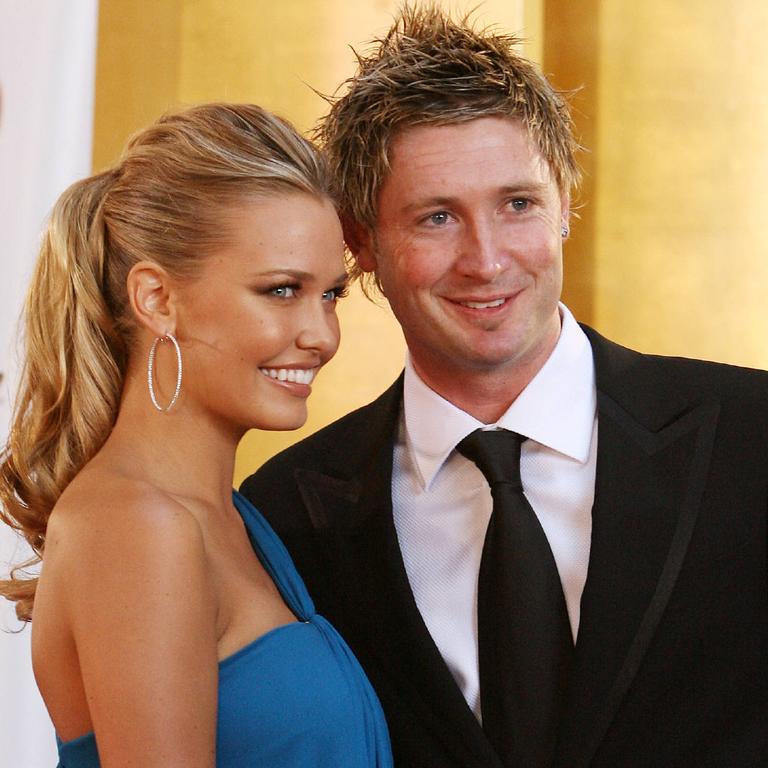 Michael Clarke and Lara Bingle in 2007.
