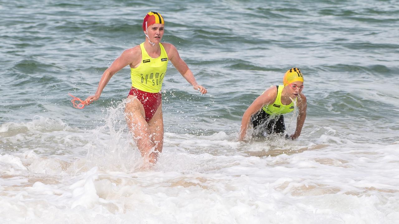 Sunshine Beach lifesaver Georgia McKinley (left).