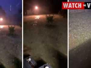 Hail hits Glendon west of Warwick