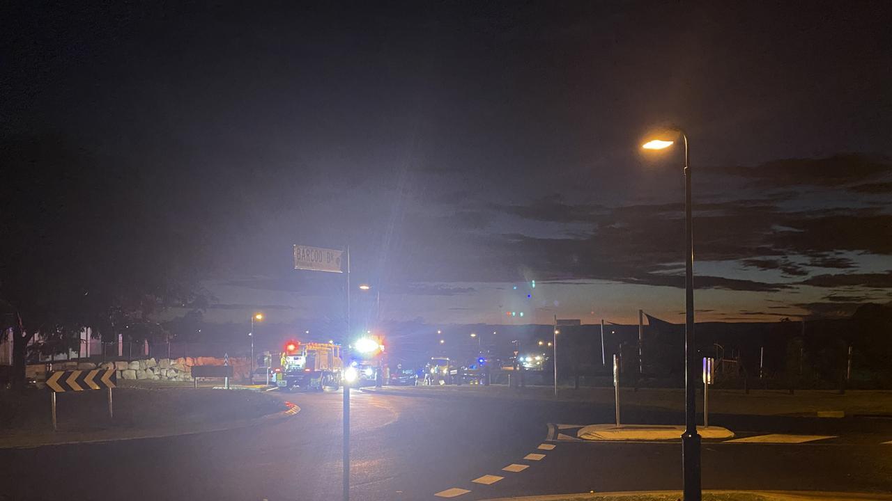 Single-vehicle crash on Barcoo Drive, Plainland.