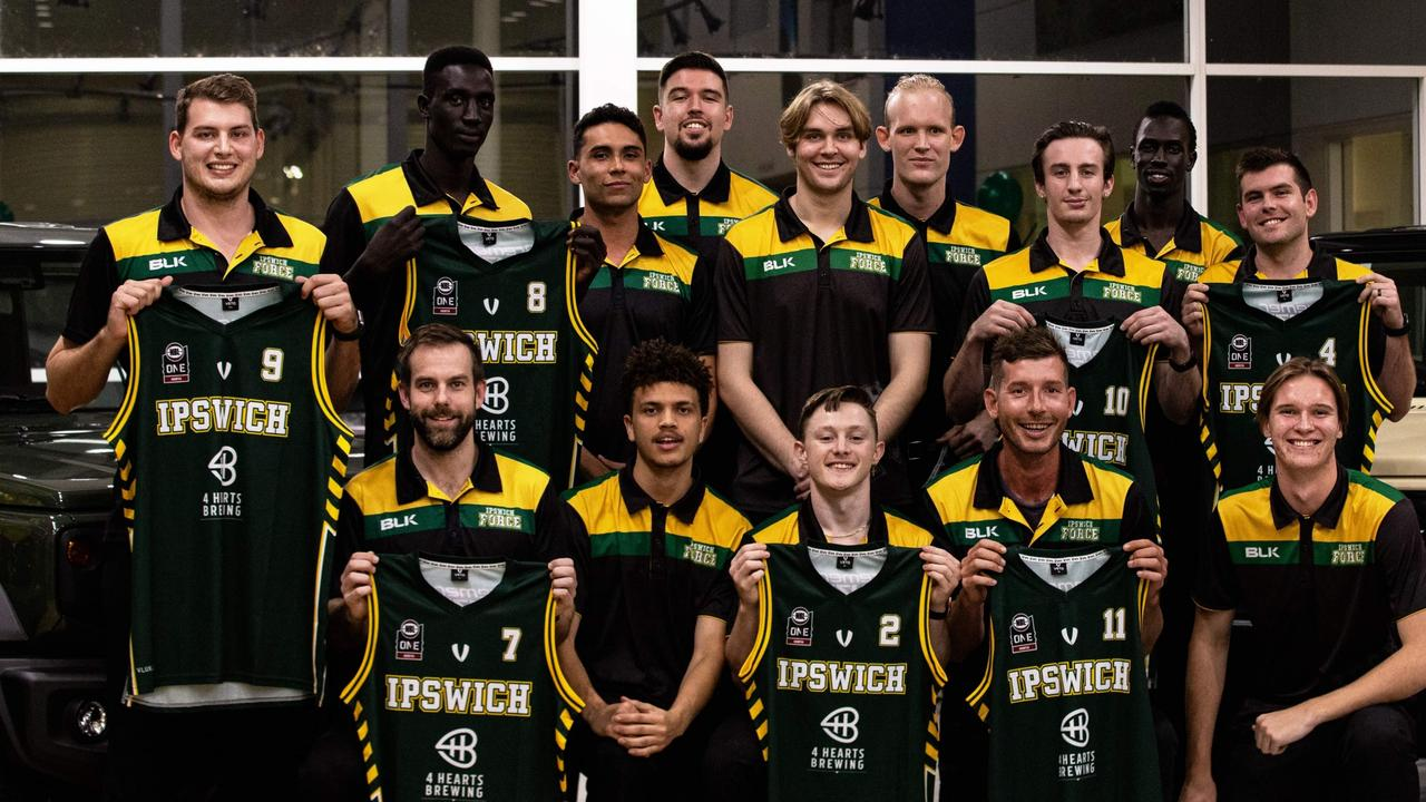 The 2021 Ipswich Force men's squad playing in the inaugural NBL1 North competition.