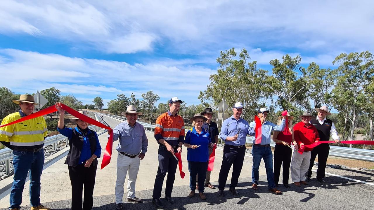 Opening of Riverslea Bridge. PIC: Contributed