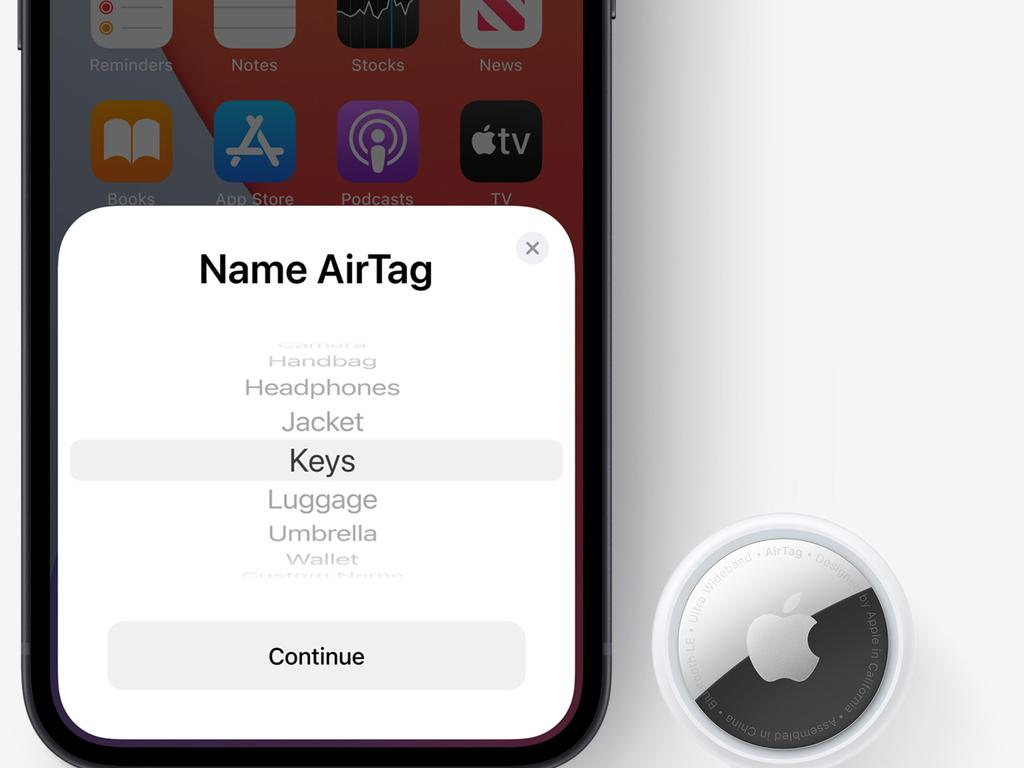 Some retailers have flagged Apple AirTags as a potential safety rise due to their button batteries. Picture: Supplied