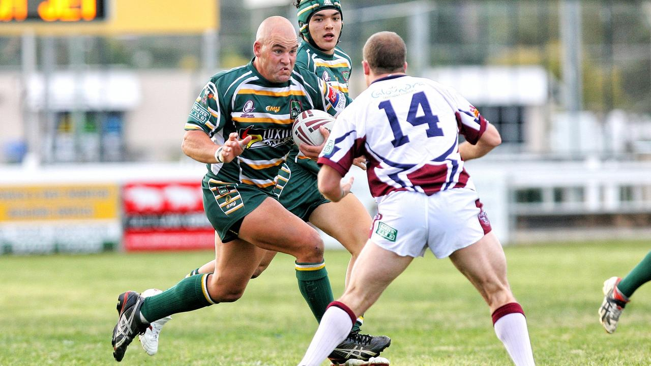 Danny Coburn playing for the Ipswich Jets in 2009.