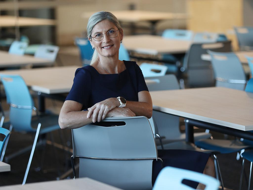Kath Kayrooz is the principal of Toowong's selective entry high school the Qld Academy of Science, Maths and Technology. Lyndon Mechielsen/The Australia