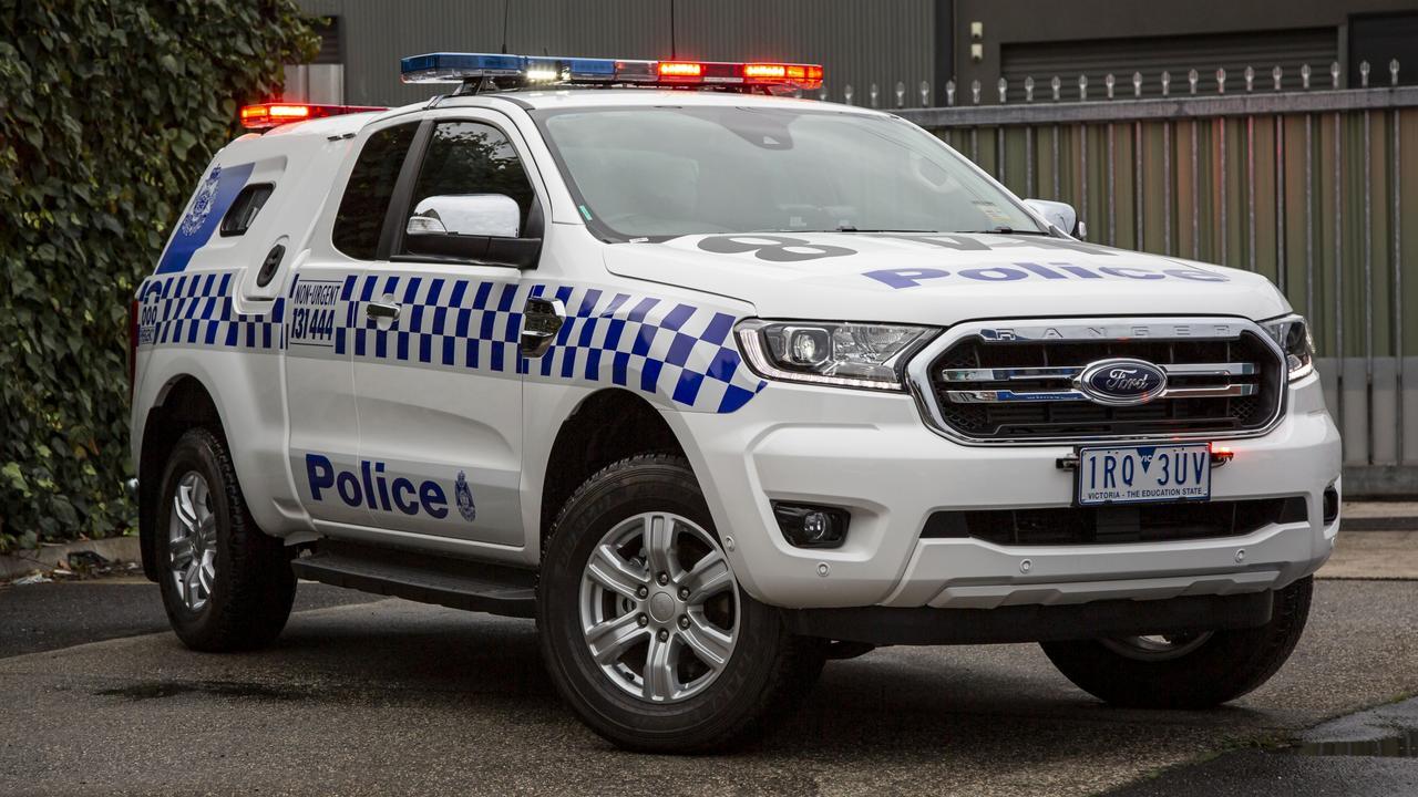 Ford Ranger divisional van Victoria Police vehicle.