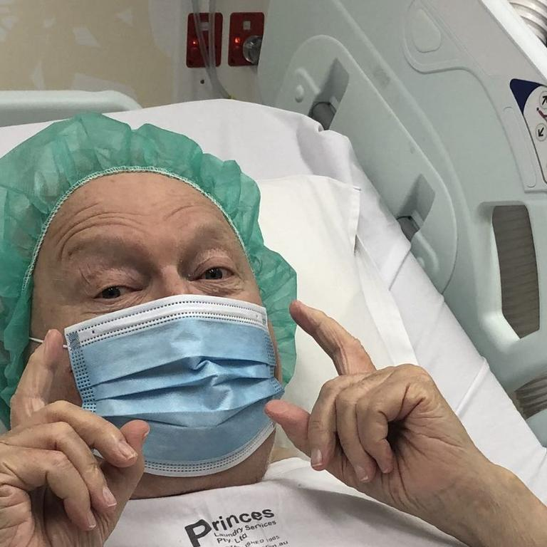 Patti shared this image of Bert in hospital last year. Picture: Patti Newton Instagram