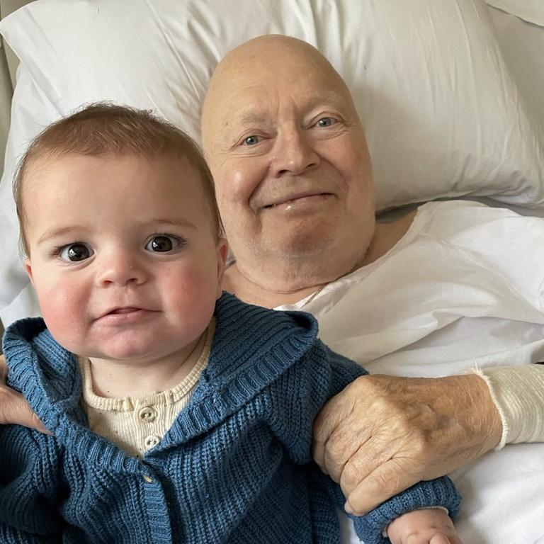 Bert Newton is recovering in hospital after undergoing a leg amputation. Picture: Patti Newton Instagram