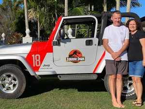 Dino-mite: Coast couple's Jurassic Park Jeep turns heads