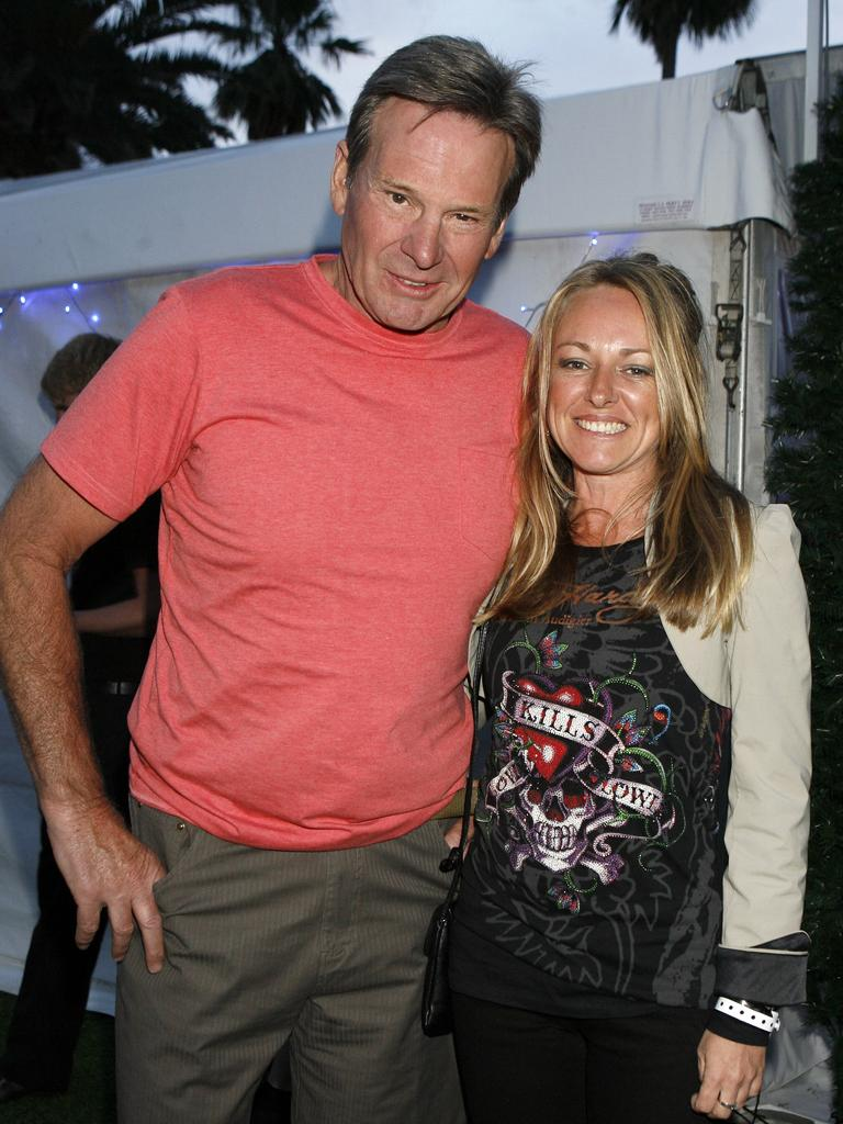 Sam Newman with his late wife Amanda Brown