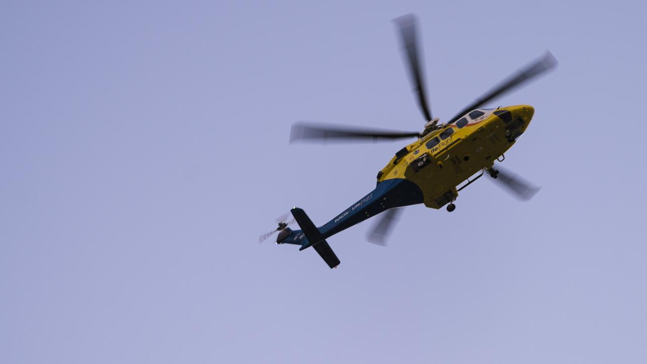 A young girl has been hit by a car in Dalby, with a rescue helicopter on the way