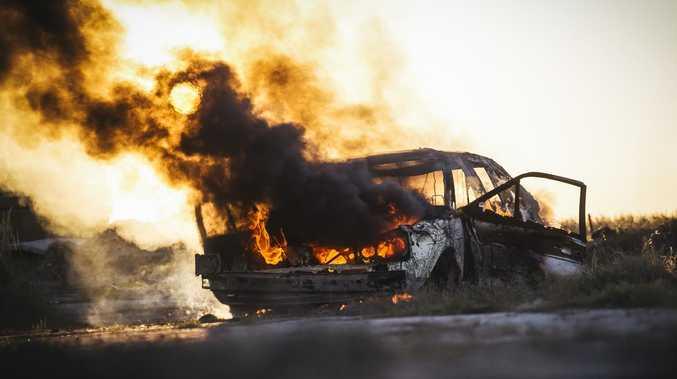 Alleged stolen car found 'engulfed in flames'