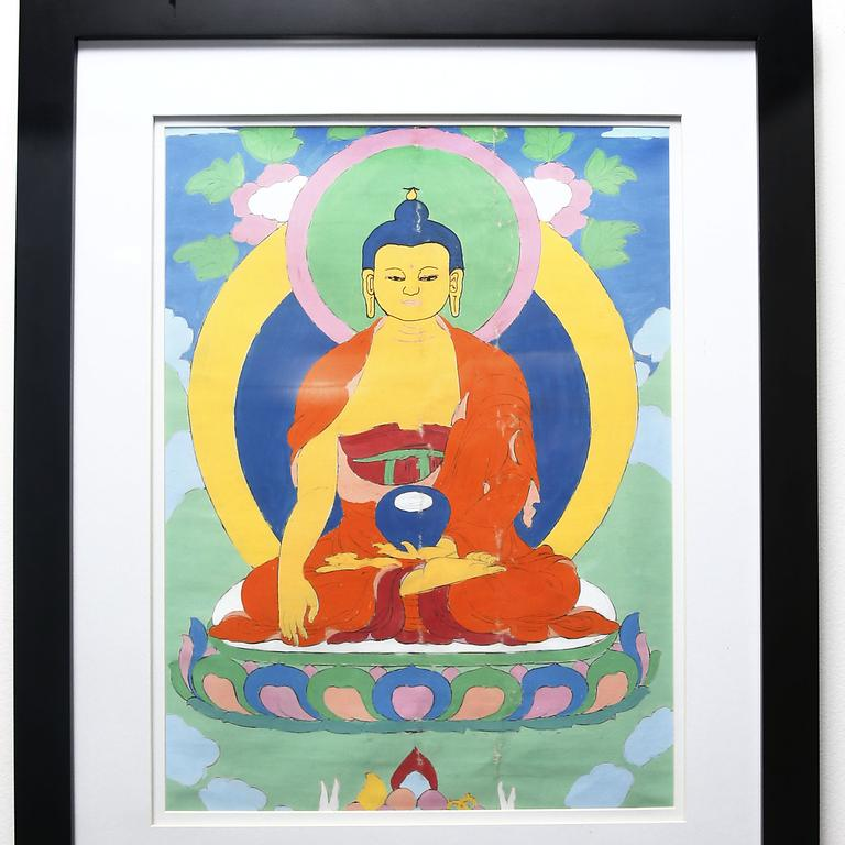 Thangka Painting from Meditation Retreat in Nepal. Picture: John Appleyard