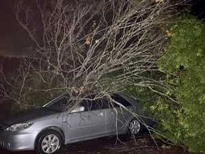 Cars, houses smashed as severe storm cell blasts Coast