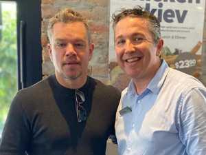 Beers at 10am: Inside Matt Damon's Queensland visit