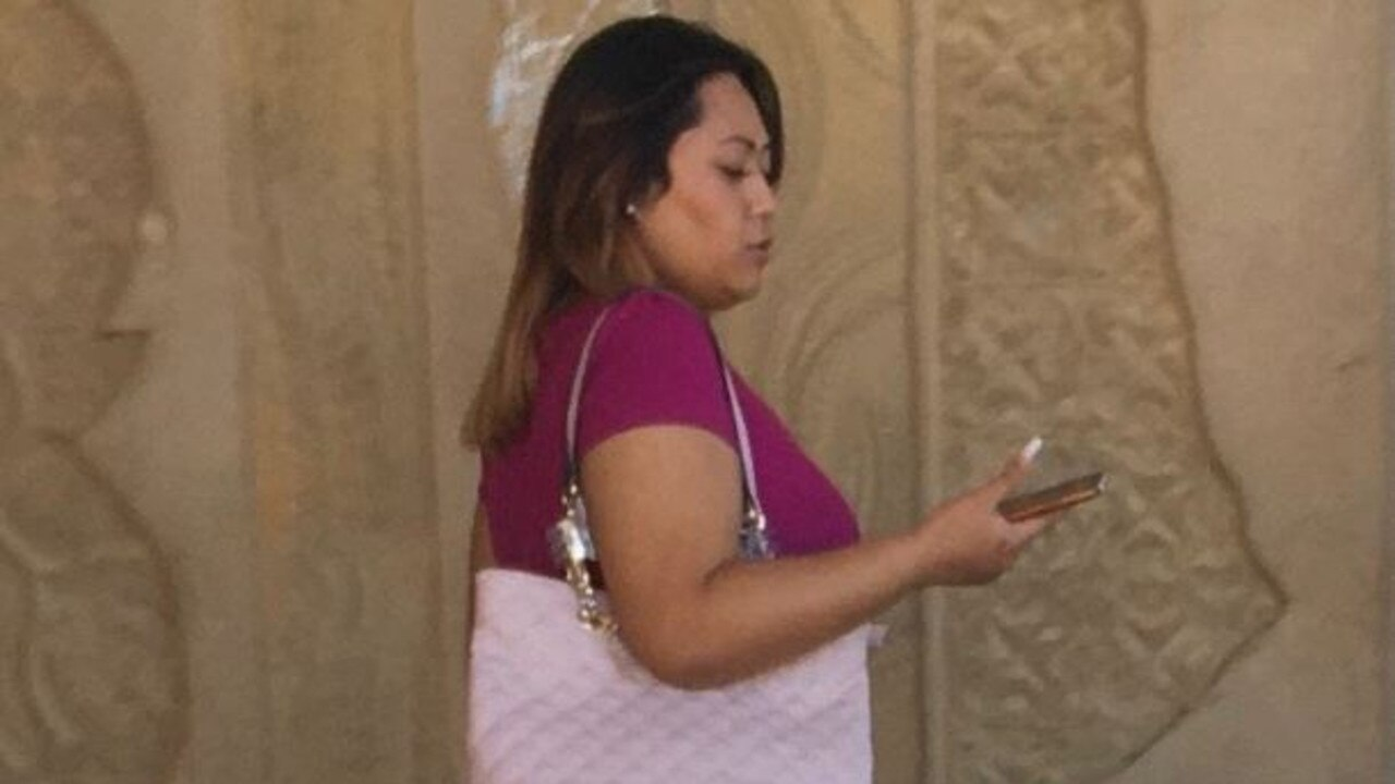 Shante Lae-Al Palu leaves court after pleading guilty to affray.