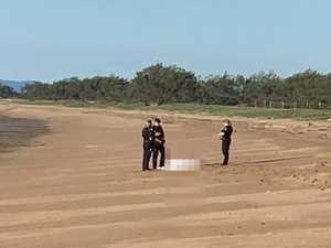 Emotional scenes as body found on Mackay beach