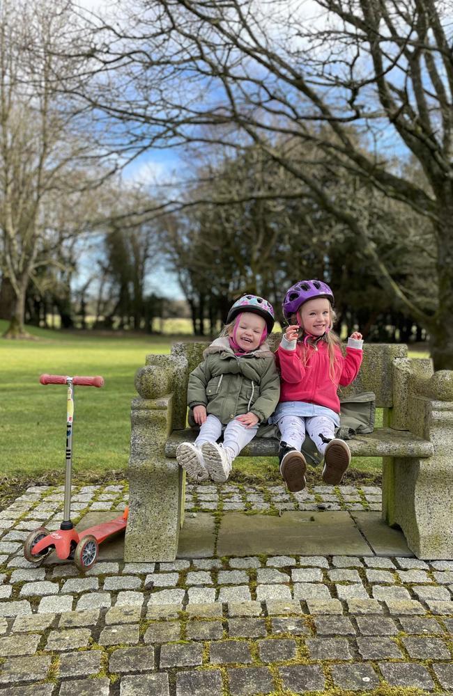 Eala, 4 and Jeanie, 2 enjoying their time in Ireland.