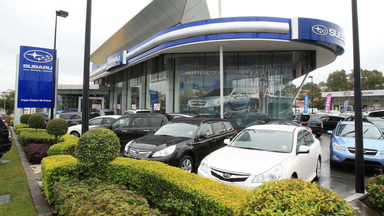 Zupps Mt Gravatt Subaru dealership, where Matthew Thompson was sacked on June 19, 2020
