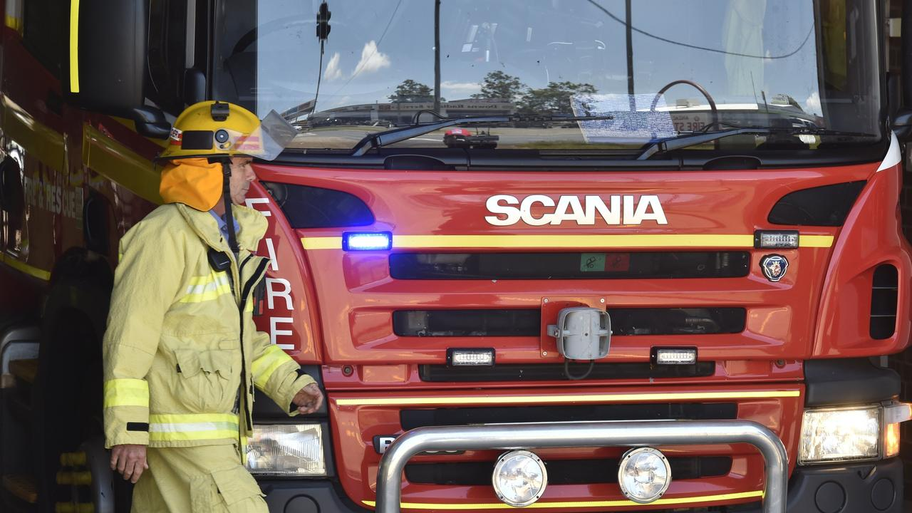 Queensland Fire and Emergency Services attended the scene. Picture: Bev Lacey