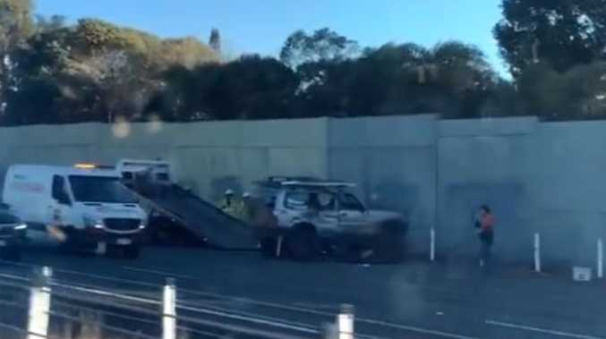 4WD into wall sparks heavy delays for Coast-bound motorists