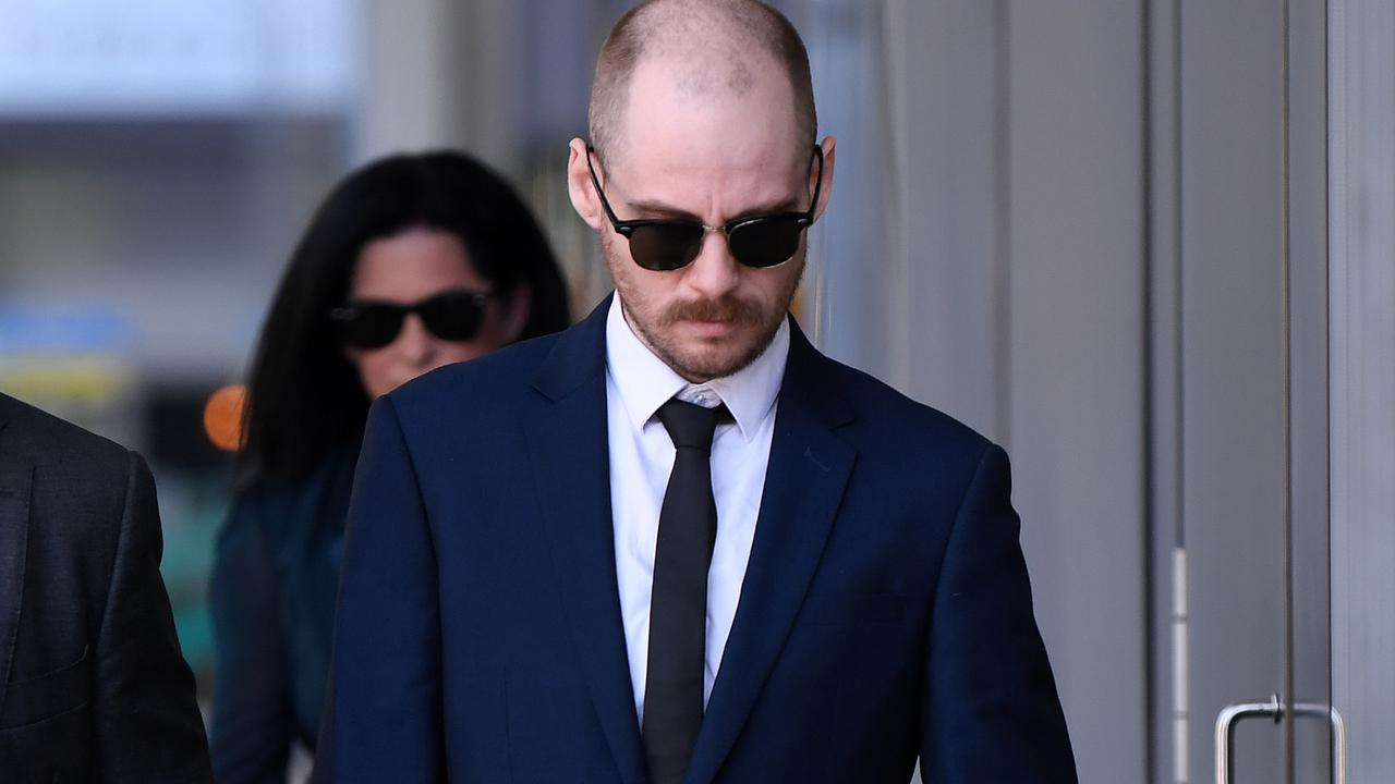 Jonathan Christopher Lawrence (right) leaves the Supreme Court in Brisbane. Picture: NCA NewsWire / Dan Peled