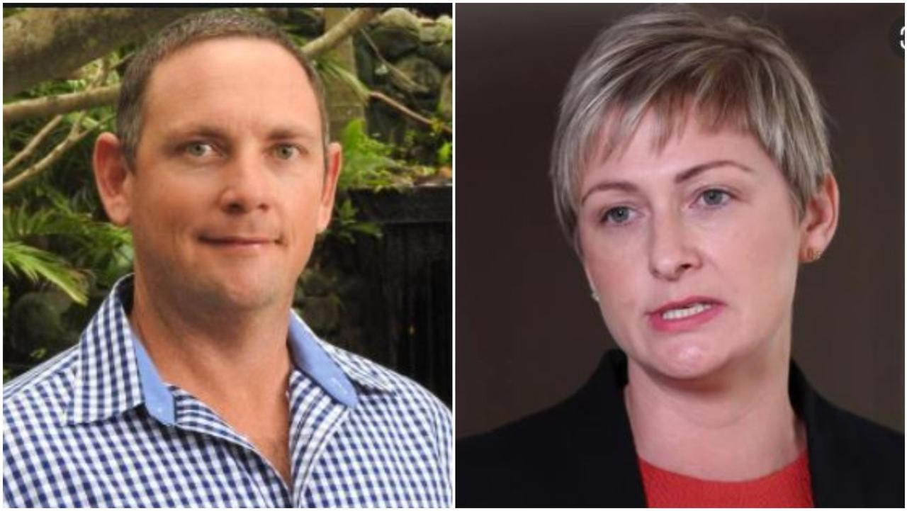 Labor's candidate for Dawson Shane Hamilton and Whitsunday MP Amanda Camm.
