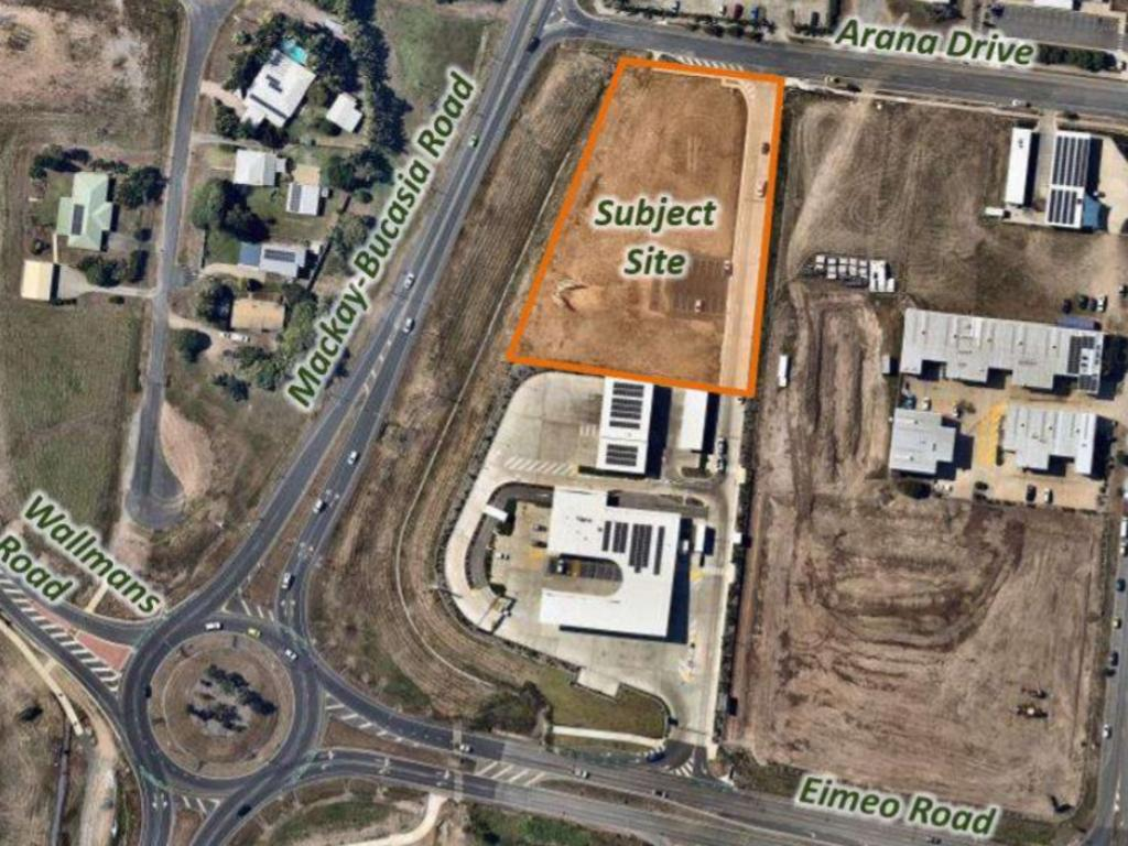 The location of the development between Mackay-Bucasia Road and Arana Drive. Picture: Supplied
