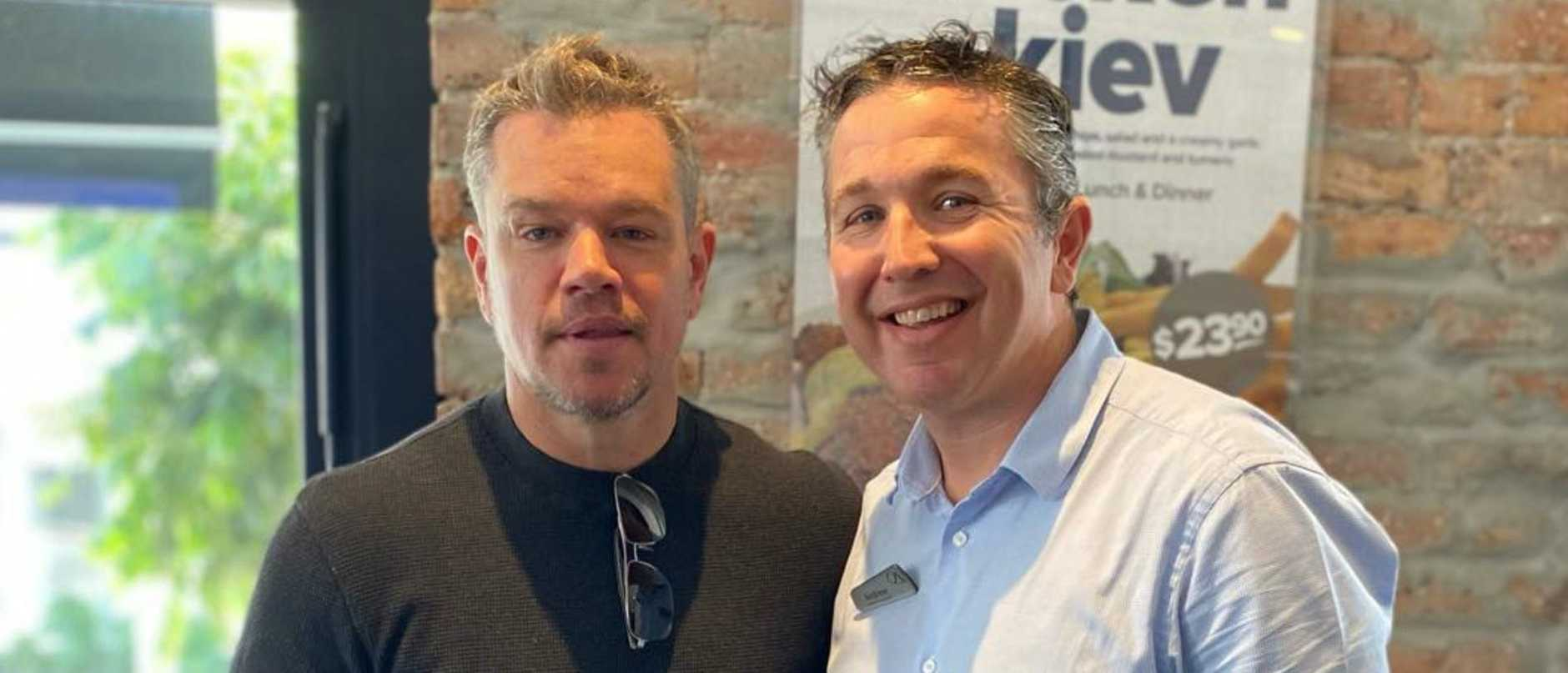Before attending a charity lunch, Hollywood star Matt Damon dropped into an iconic Brisbane pub for a punt and a Great Northern at 10am.