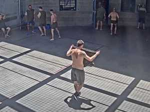 WATCH: CCTV footage of prison brawl played to court