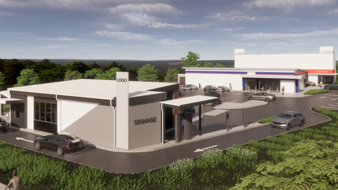 Designs submitted to Mackay Regional Council for a new gym, drive-through takeaway and retail shop on the northside of Mackay. Picture: Supplied