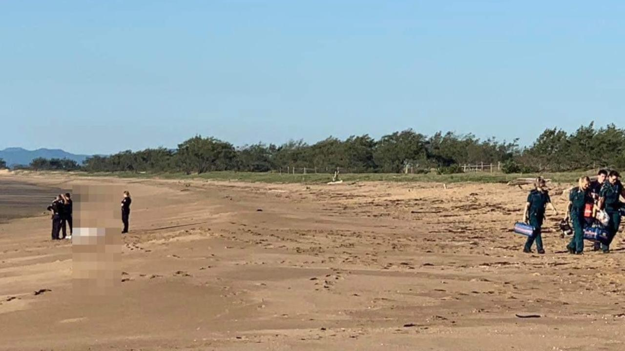 A body was found on the shore at Harbour Beach near Mulherin Park at Mackay Harbour on Friday. Police are investigating. Picture: Melanie Whiting