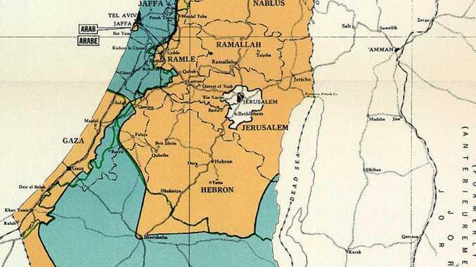 70-year-old map at heart of Israel crisis