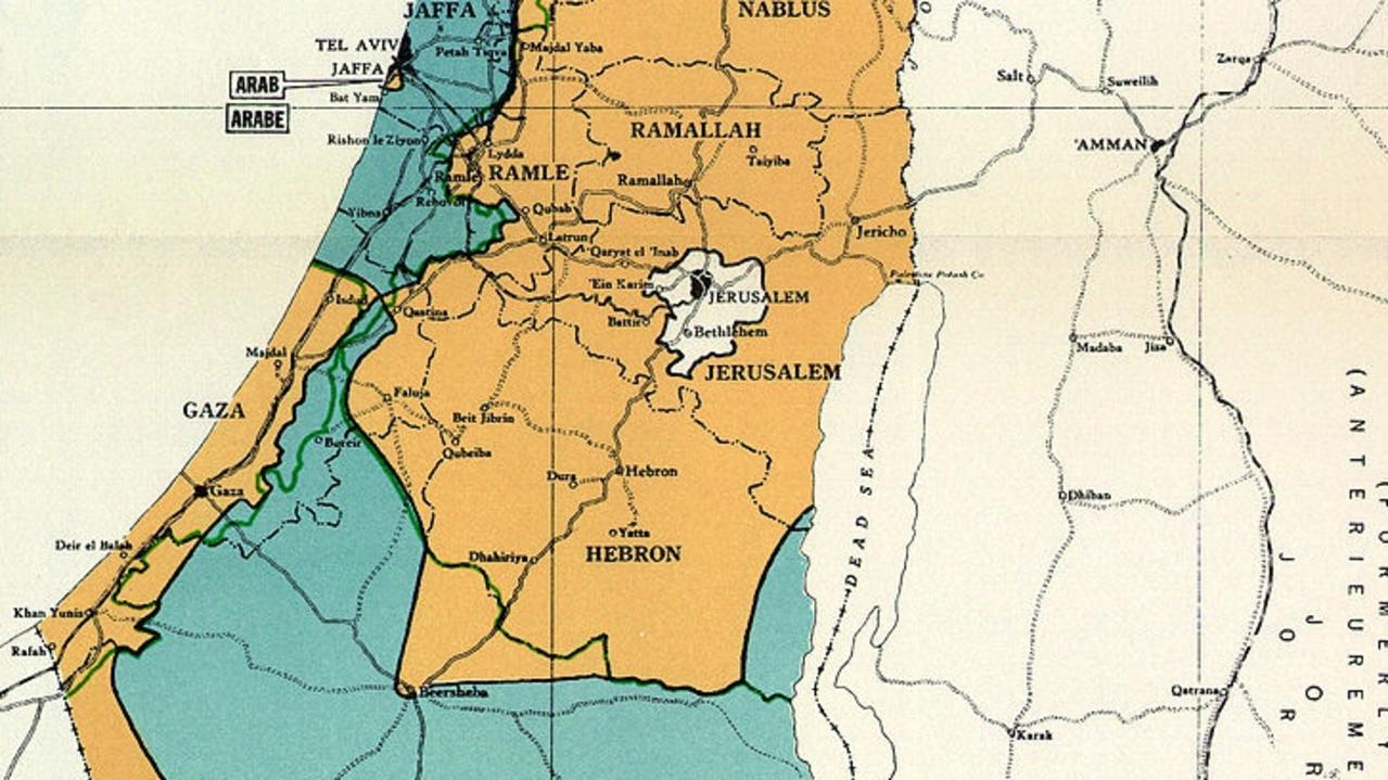 The deadly violence in Israel and Palestine may have been triggered just days ago but its origins go back decades – to a hand-drawn map.